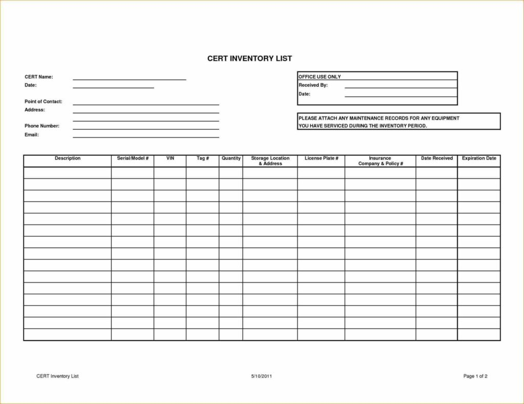 Bar Inventory Spreadsheet and Doc Office Inventory U Home Doc Free Inventory Sheet Template