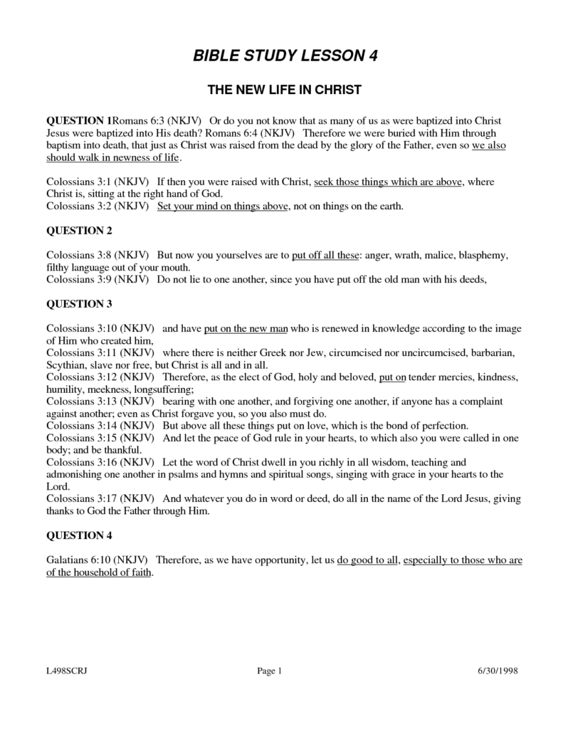 Bible Study Worksheets for Adults and Bible Study Worksheets for Youth Mediafoxstudio
