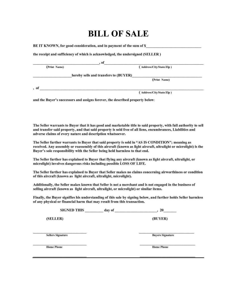Bill Of Sale Personal Property Template and Motor Vehicle Bill Of Sale Template Alberta and Bill Of Sale
