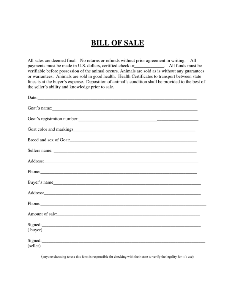 Bill Of Sale Template for Business and Best Photos Of Easy Printable Bill Of Sale Free Printable Blank