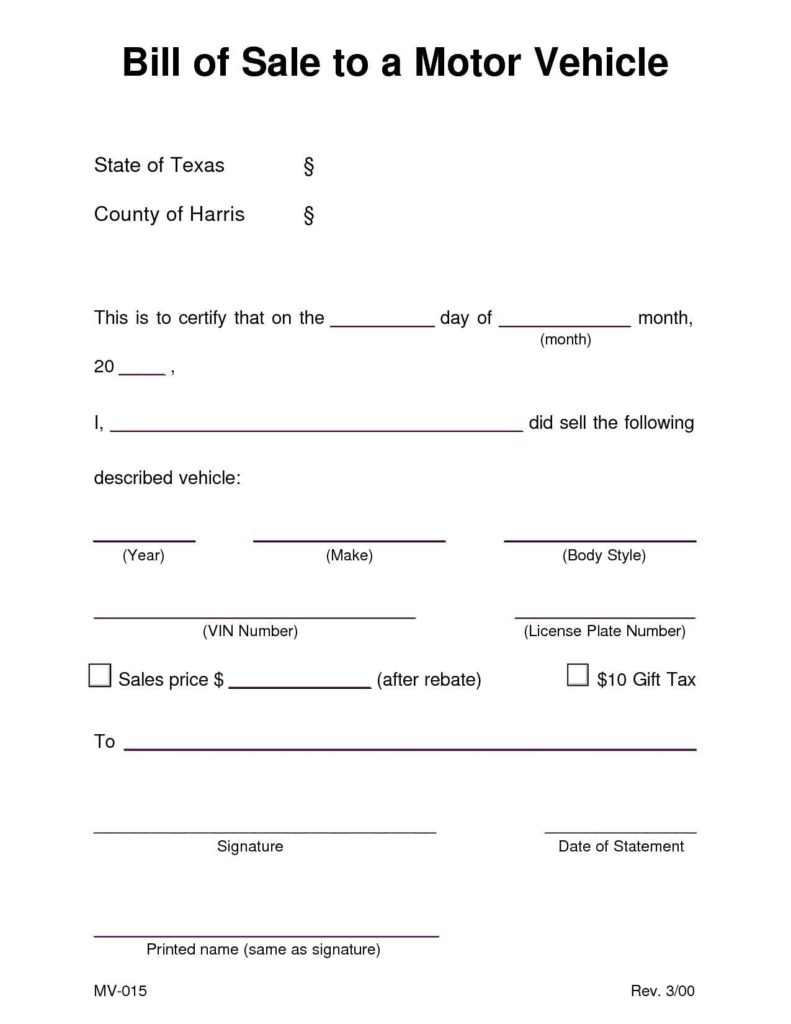 Bill Of Sale Template Ontario and Automobile Bill Of Sale Sample Teerve Sheet