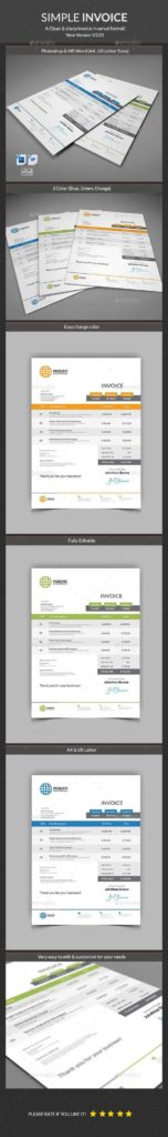 Bill Template Psd and Best 25 Microsoft Word Invoice Template Ideas On Pinterest