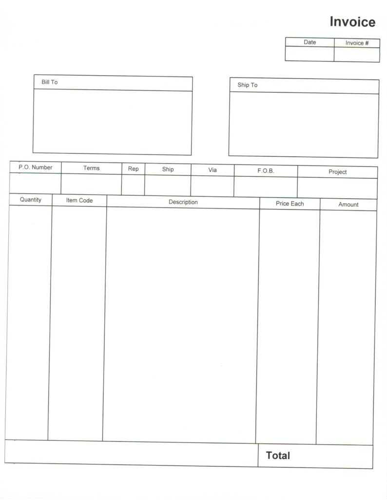 Blank Invoice Template Printable and Blank Invoice Template 30 Documents In Word Excel Pdf