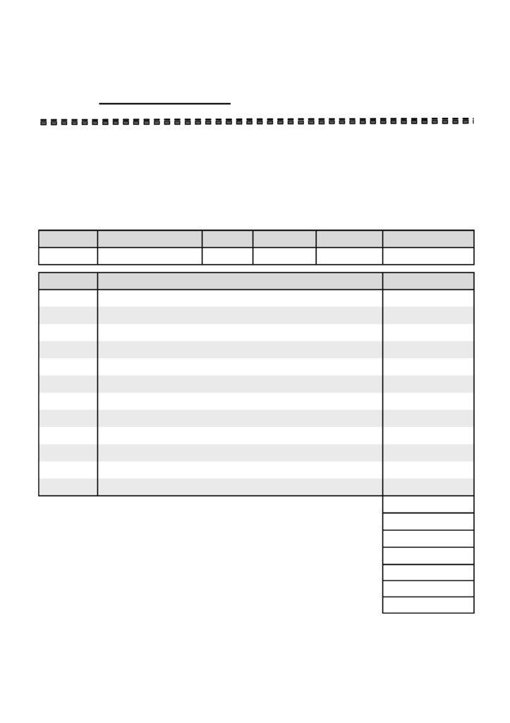 Blank Invoices Template and Blank Service Invoice Template Free