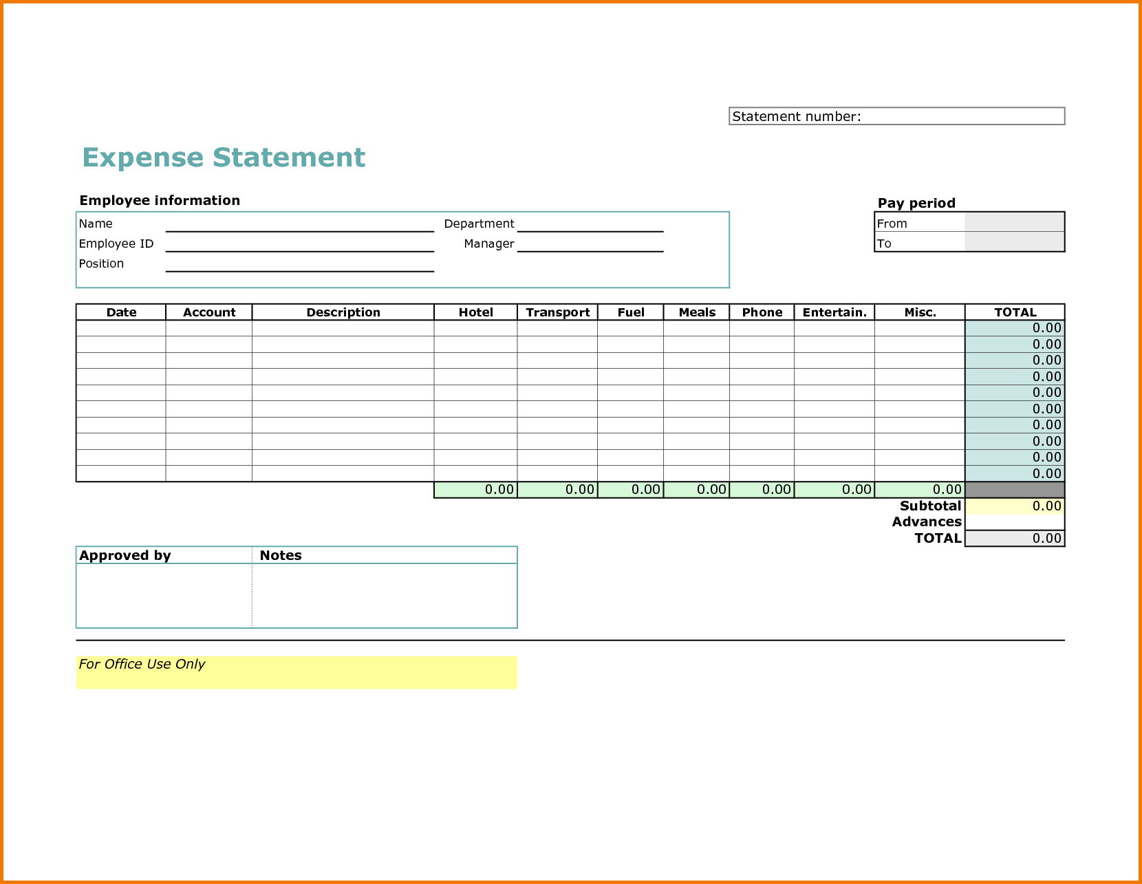 Business Travel Expense Report Template and 4 Travel Expense Report Template Expense Report
