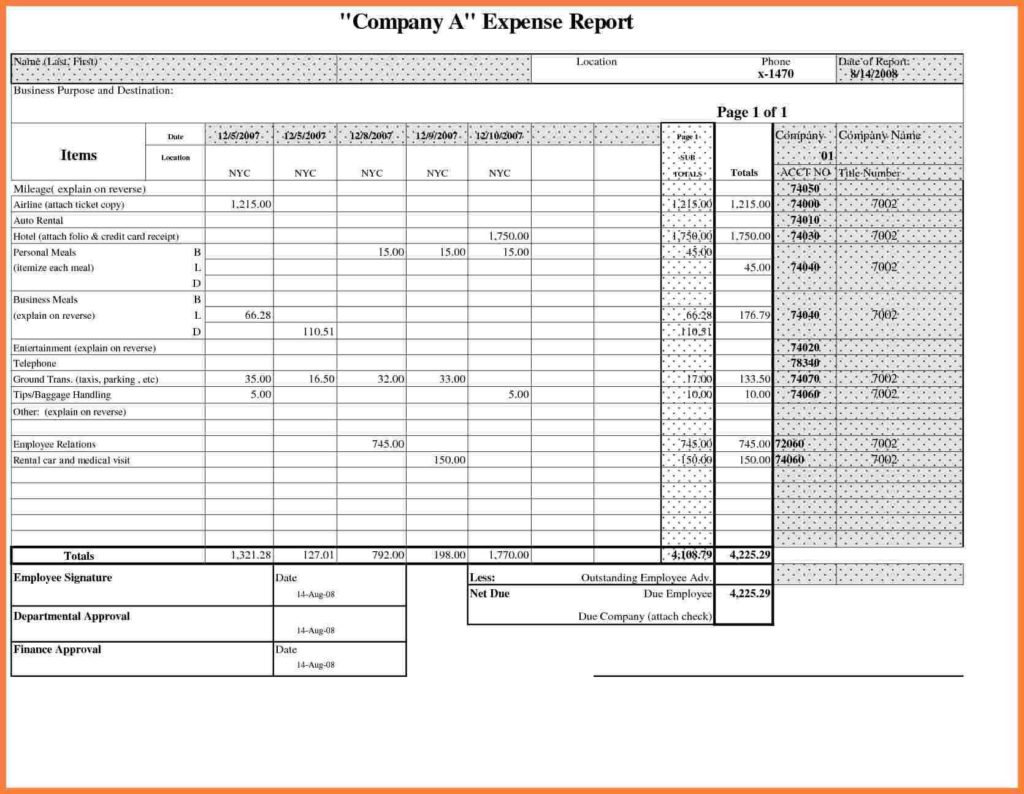 Business Travel Expenses Template and 8 Business Travel Expense Report Template Progress Report