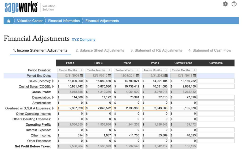 Business Valuation Spreadsheet and Business Valuation Report Template Teerve Sheet
