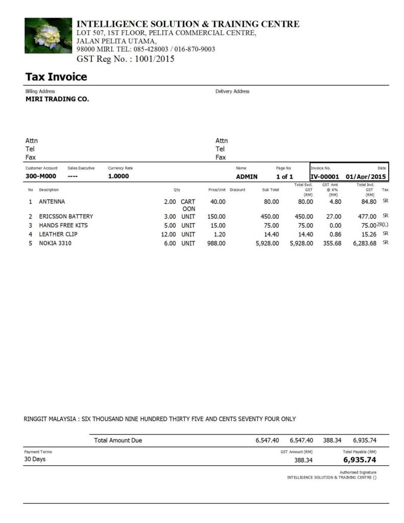 Caricom Invoice Template and Invoice without Gst Invoice Template Ideas