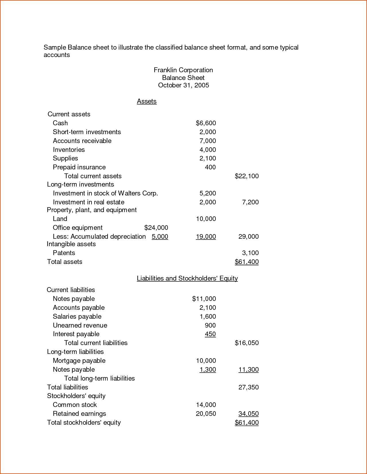 Cash Register Balance Sheet Template and 7 Balance Sheet Template Excel Bookletemplate
