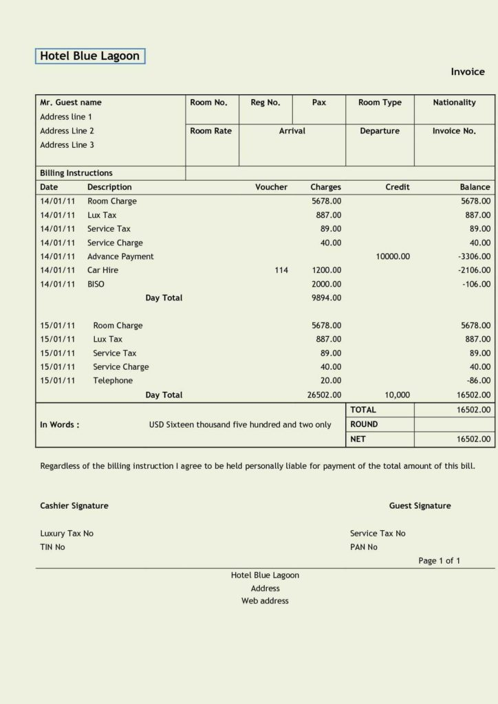 Catering Bill Template and Design Invoice Template Document Templates