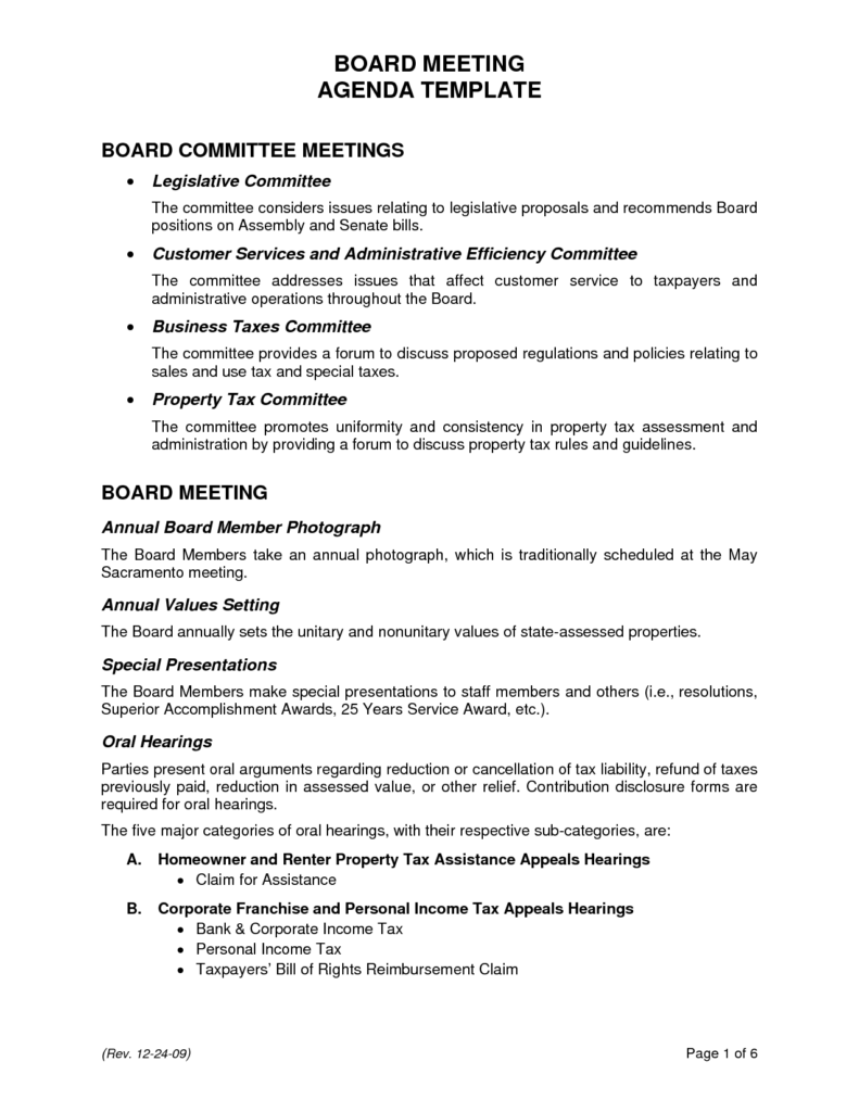 Ceo Report to Board Of Directors Template and Agenda format Template Masir