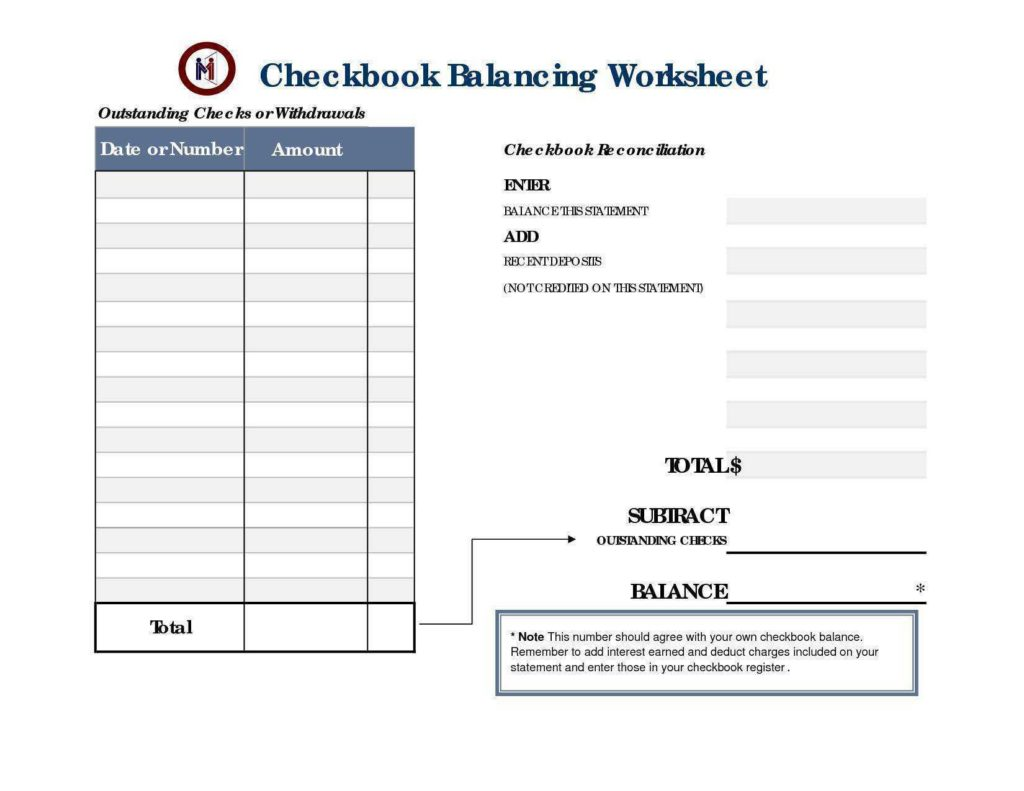 Checking Account Worksheets for Students and Free Printable Checking Account Worksheets and Checking Account