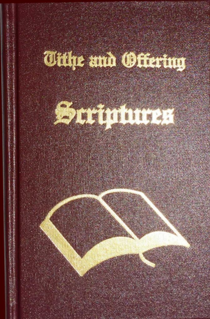 Church Tithe and Offering Spreadsheet and Tithe and Offering Scriptures the Plete Collection