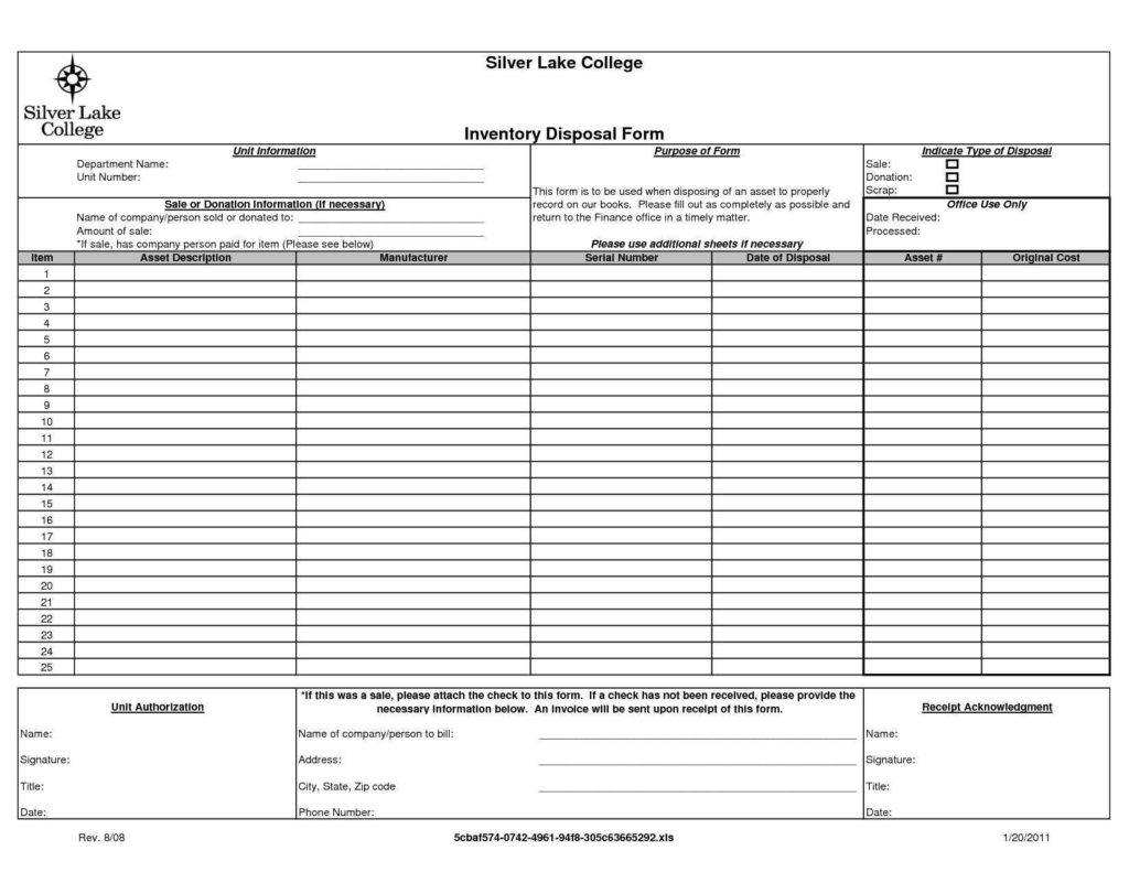 Clothing Inventory Spreadsheet and Sample Inventory Sheet Fax Templates for Word Intended for