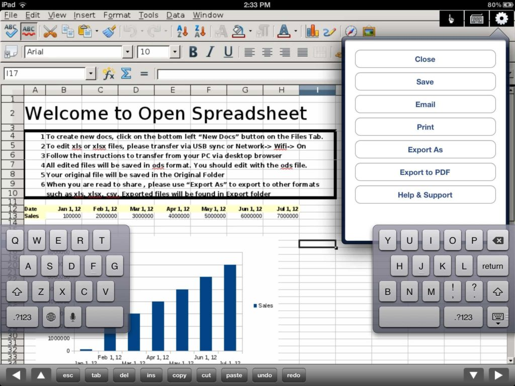 Cloud Spreadsheet and Spreadsheet Editor Of Microsoft Excel Xls Files for Ipad App