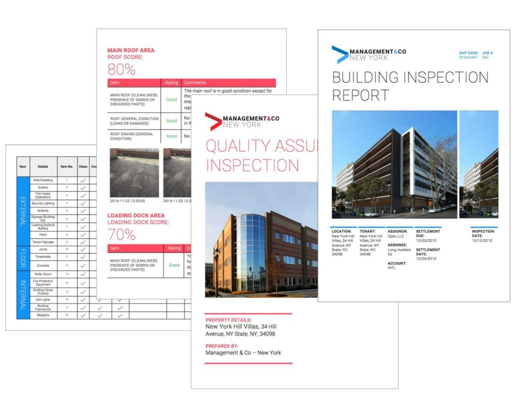 Commercial Property Inspection Report Template and Inspection software Mobile App for Mercial Real Estate