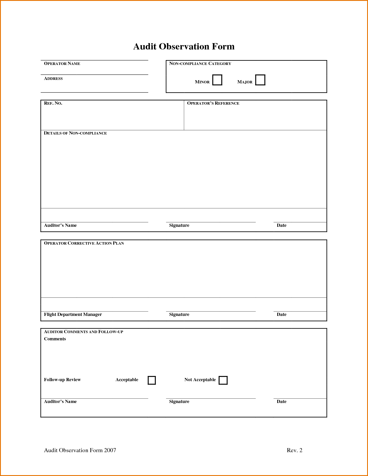Compliance Audit Report Sample and Audit Report Template Word Masir