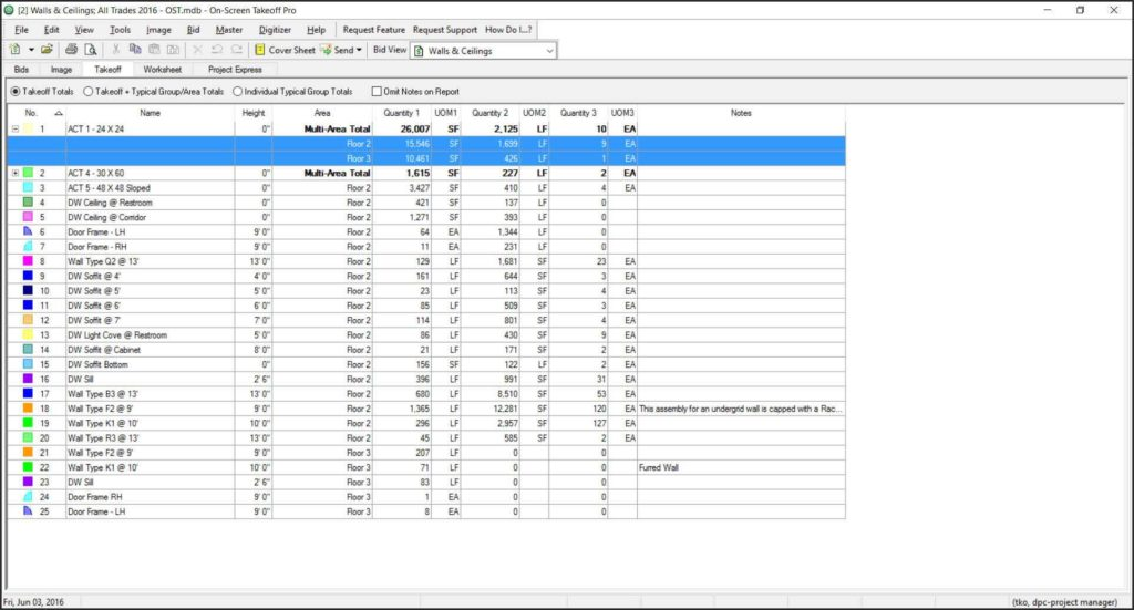 Construction Job Costing Spreadsheet and Construction Bidding and Estimation software On Center software