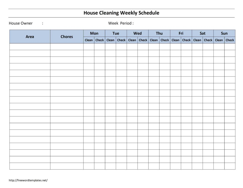 Construction Time Sheets Template and House Cleaning organizing Pinterest Schedule Templates and