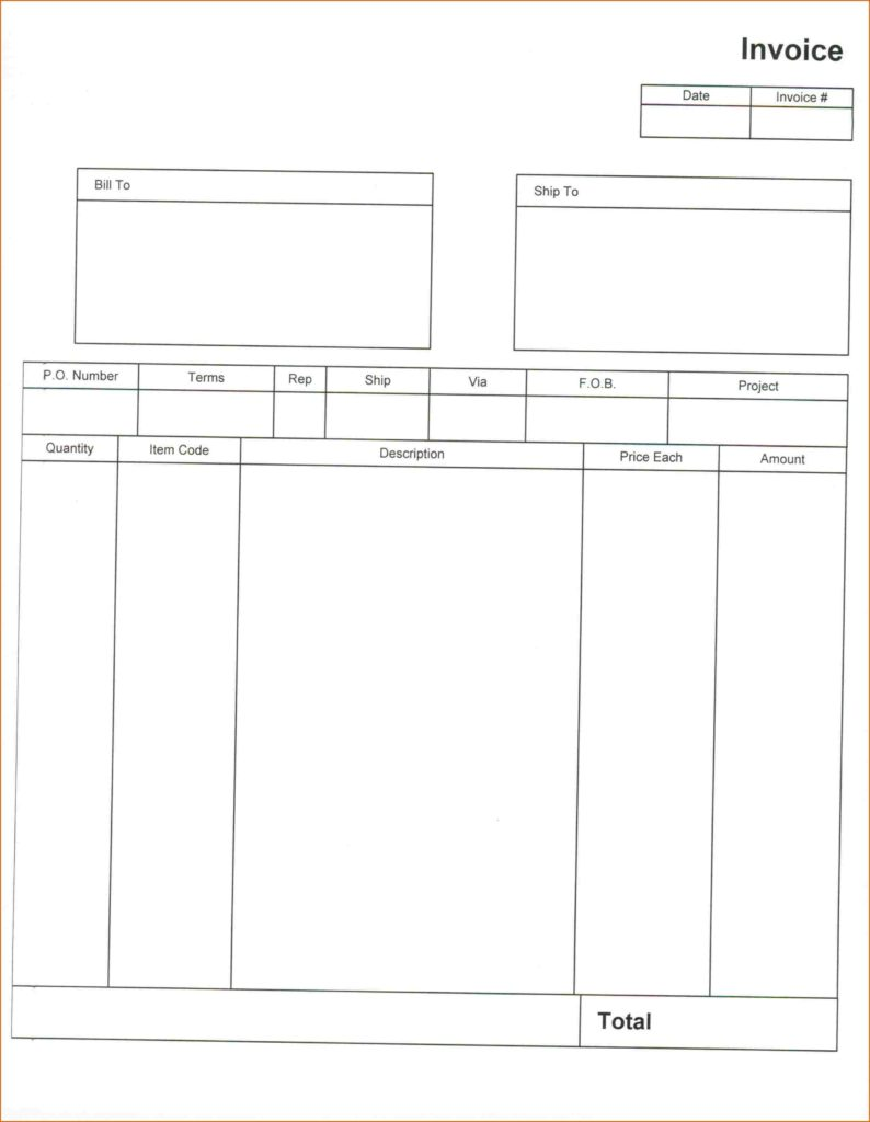 Contractor Invoice Template Pdf and 8 Blank Invoice Template Pdf Authorizationletters