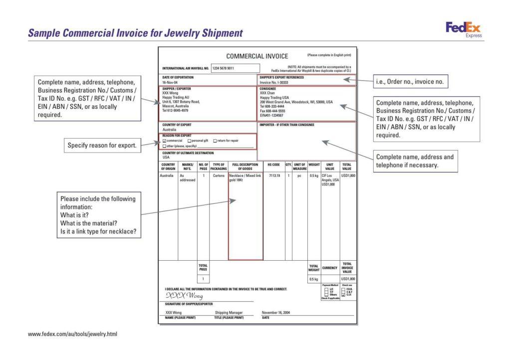 Customs Invoice Template and Simple Mercial Invoice Rabitah
