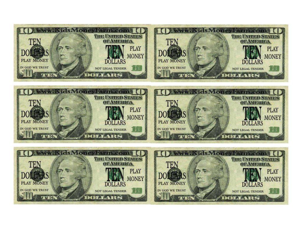 50 Dollar Bill Worksheet
