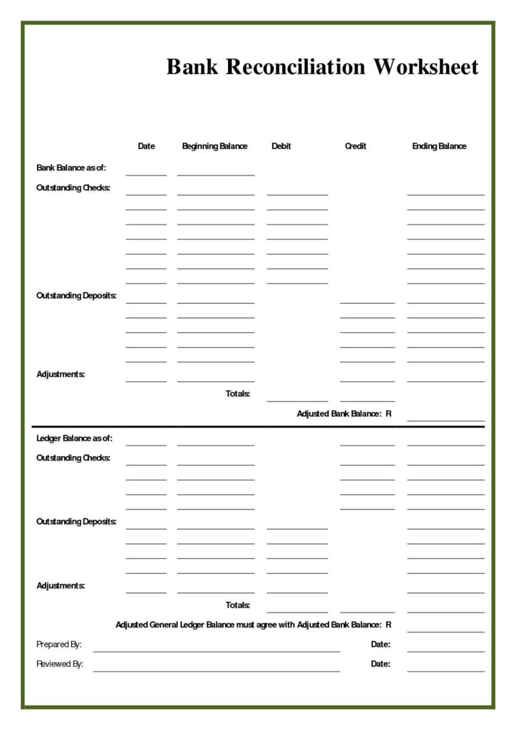 Download Balance Sheet Template and Bank Reconciliation Sheet with Regard to Balance Sheet Account