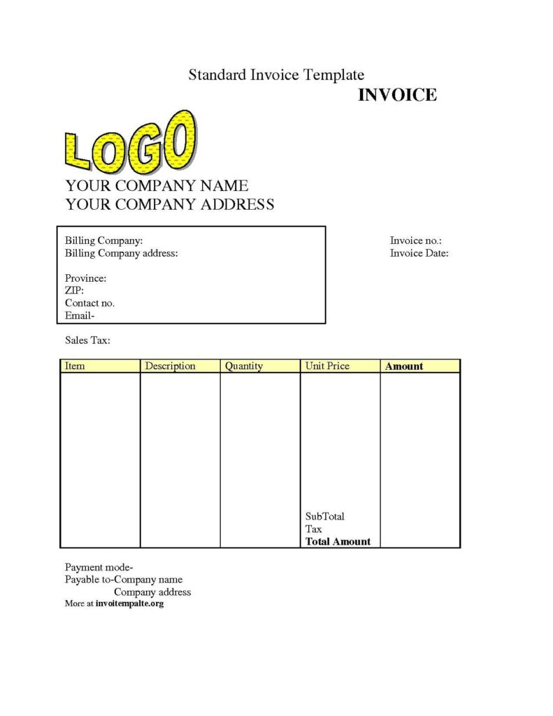 Downloadable Invoice Template and Free Invoice Template S Invoice Template Free 2016 Free