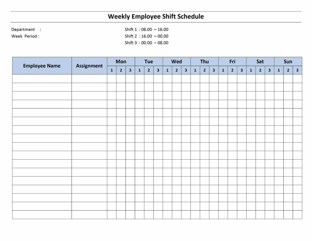 Employee Shift Scheduling Spreadsheet and Free Monthly Work Schedule Template Weekly Employee 8 Hour Shift