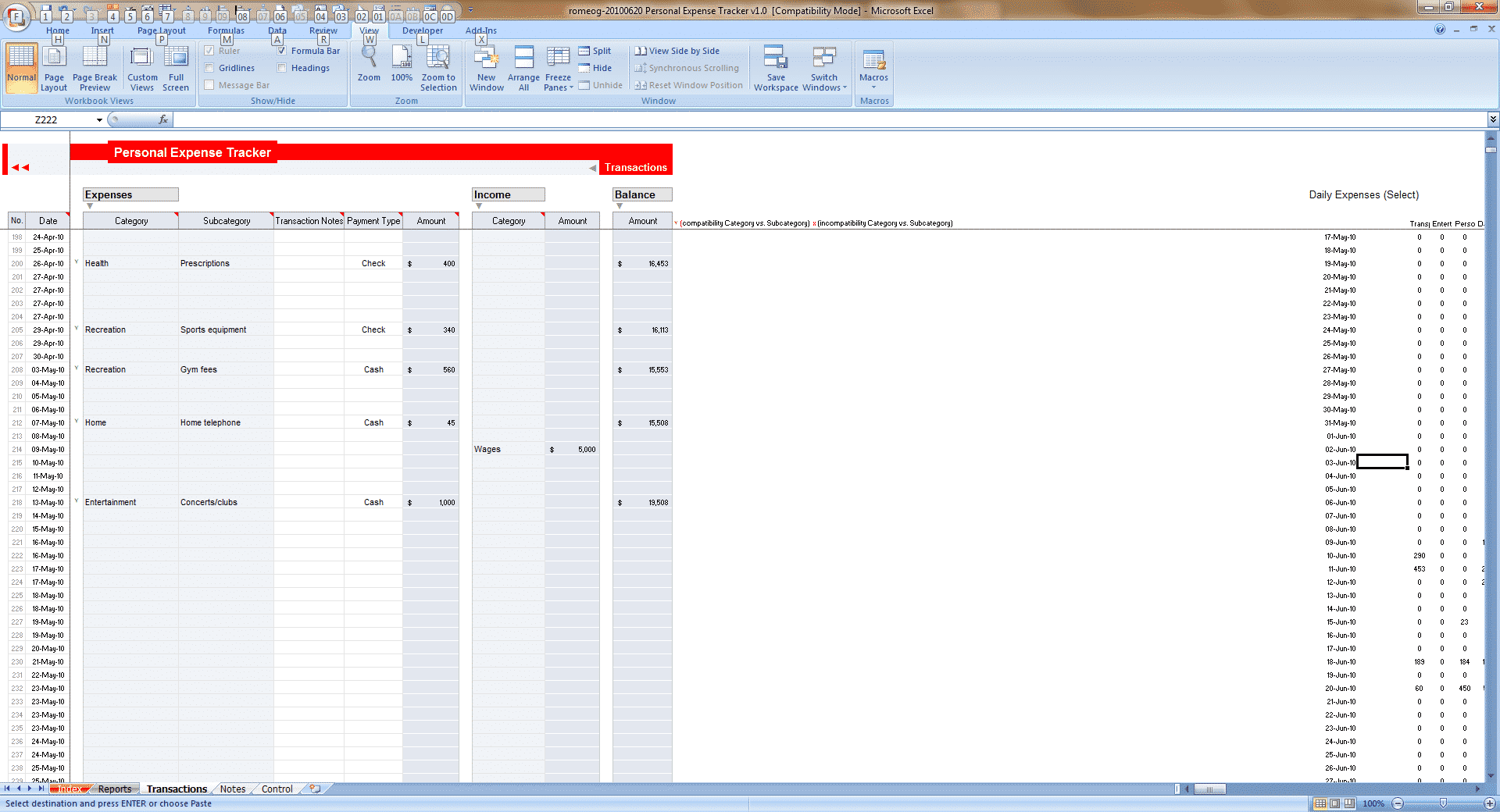 Employee Time Tracking Spreadsheet and Excel Personal Expense Tracker 7 Templates for Tracking