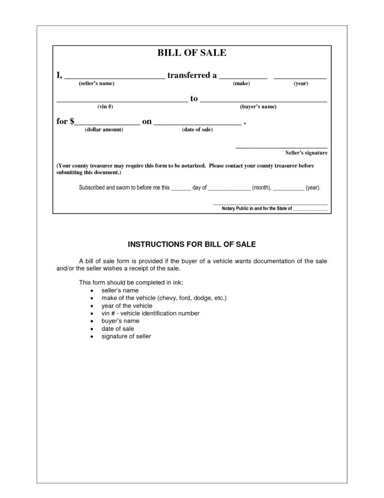 Examples Of Bill Of Sales and Picture 5 Of 17 Example Bill Of Sale form Photo Gallery