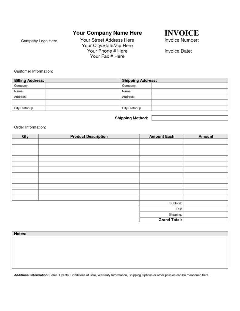 Examples Of Billing Invoices and Billing Invoice Template Invoice Example
