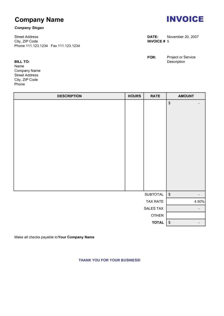 Examples Of Billing Invoices and Copy Of A Blank Invoice Invoice Template Free 2016 Copy Of Blank