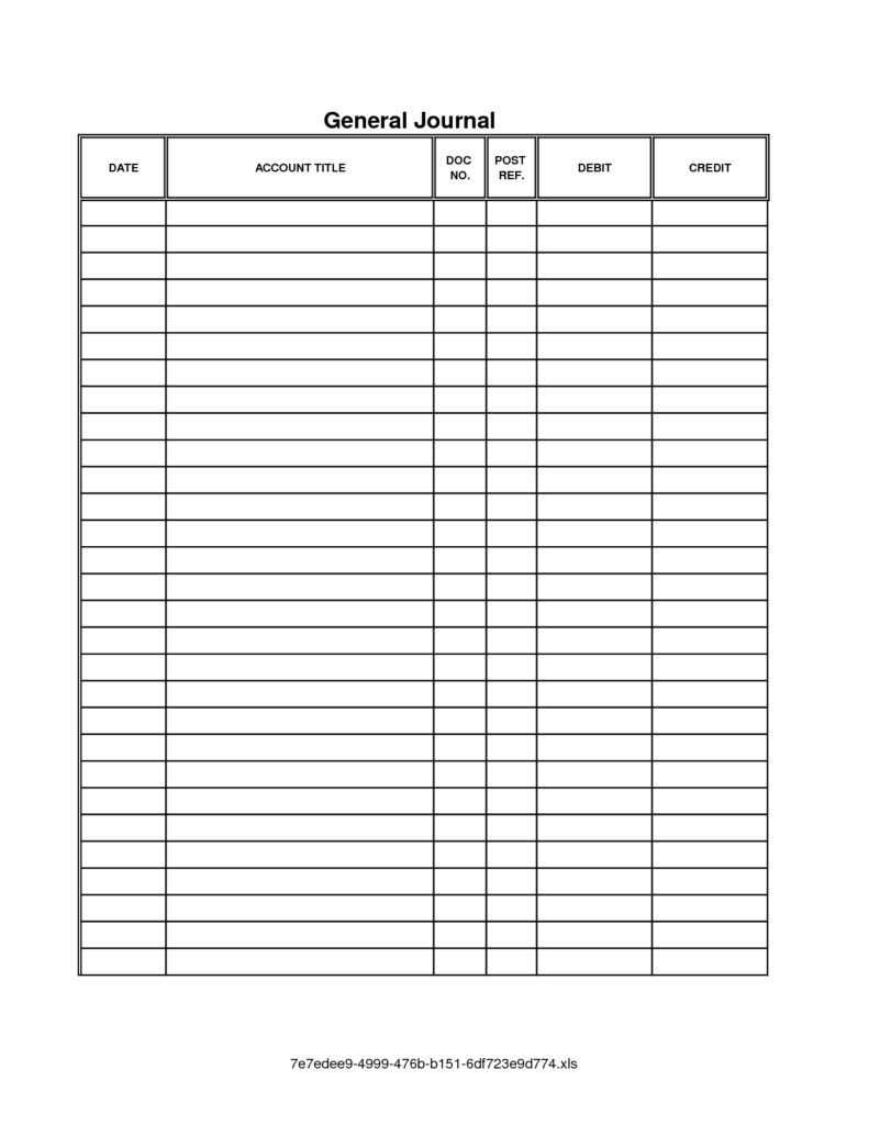Examples Of Bookkeeping Spreadsheets and Accounting Journal Template Printable Accounting Journal Template