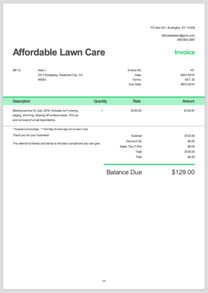 Examples Of Invoice Templates and How to Create A Professional Invoice Sample Invoice Templates
