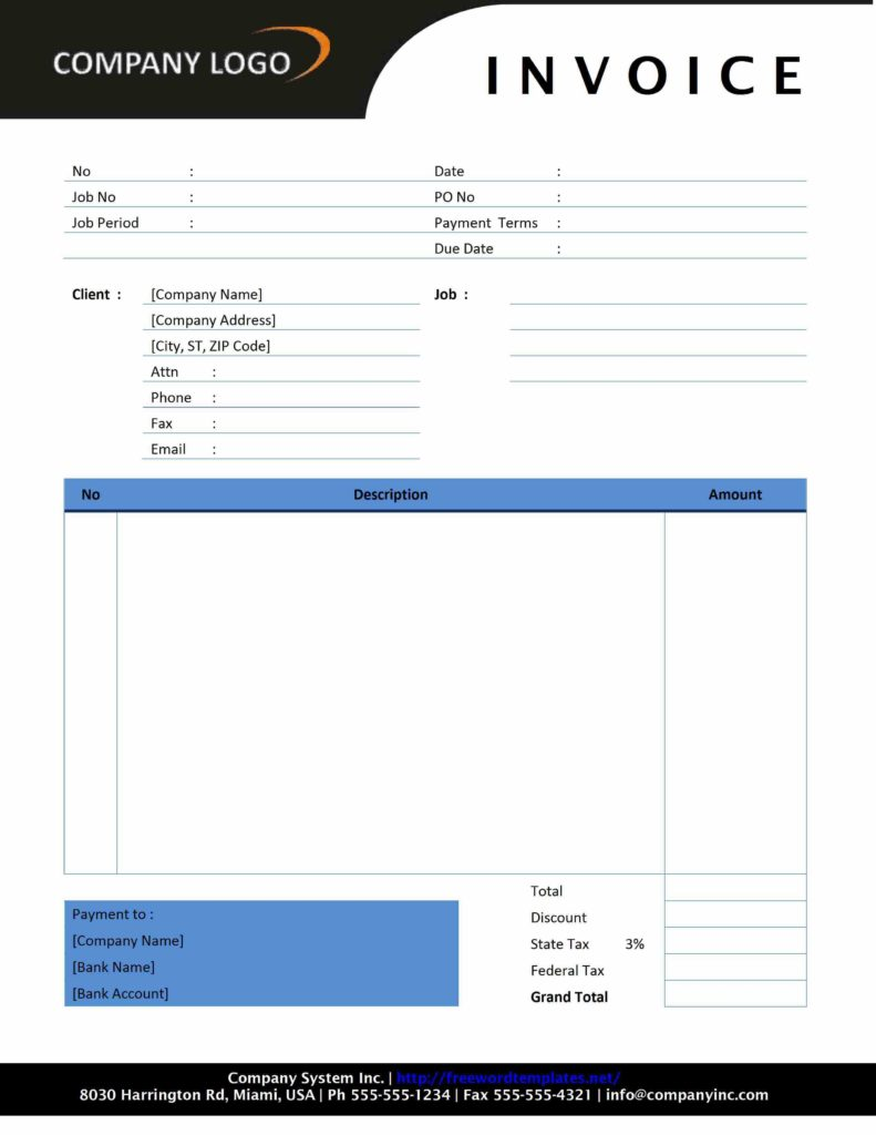 Excel Bill Of Sale Template and Free Invoice Template astrawell