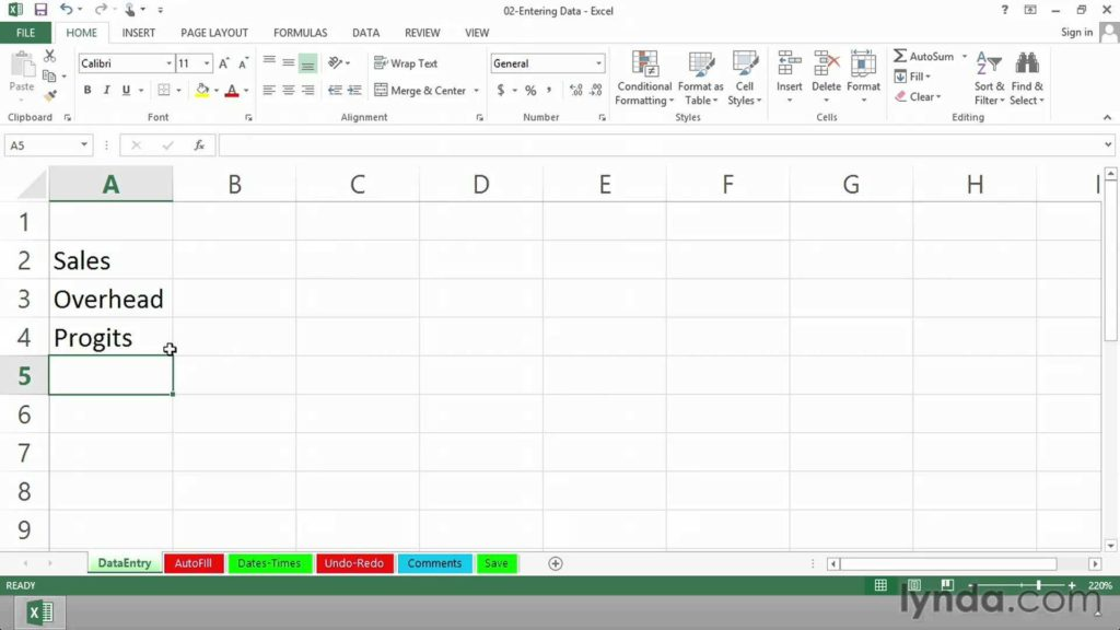 Excel Survey Data Analysis Template and Excel 2013 Tutorial Data Entry and Editing Techniques Lynda