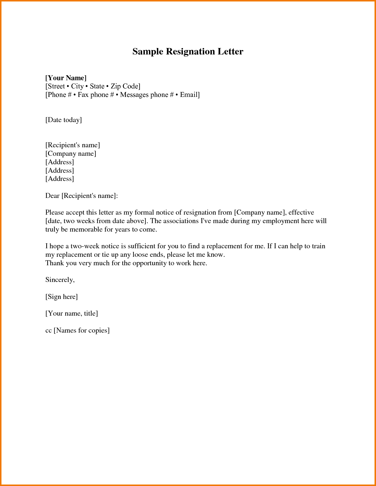 Expense Report Policy Sample and Two Weeks Notice Sample Expense Report