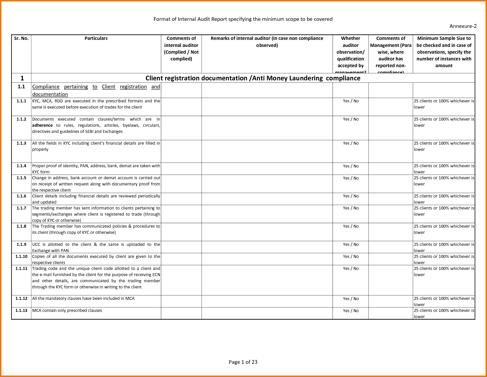 Expense Report Sample and 8 Internal Audit Report Template Expense Report
