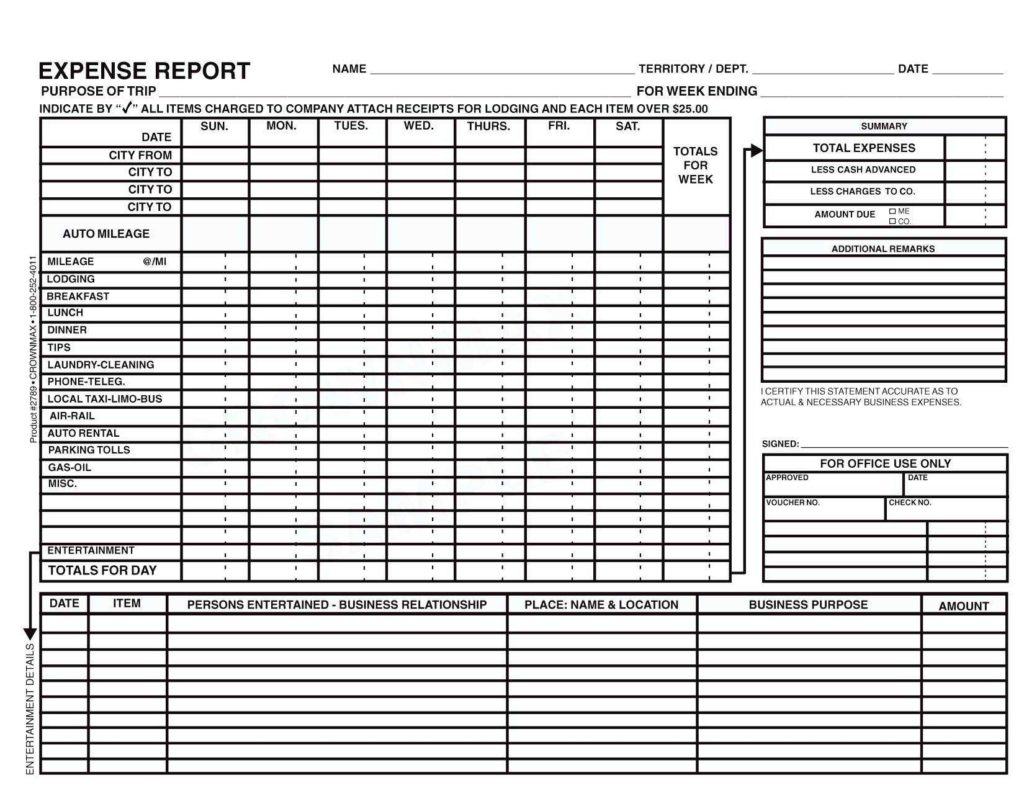 Expense Report Samples and Sample Business Expense Report Dingliyeya Spreadsheet Templates