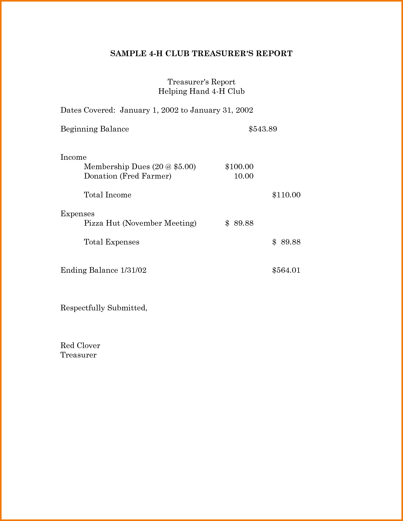 Expense Report Template Excel 2010 and 8 Treasurer S Report Template Expense Report