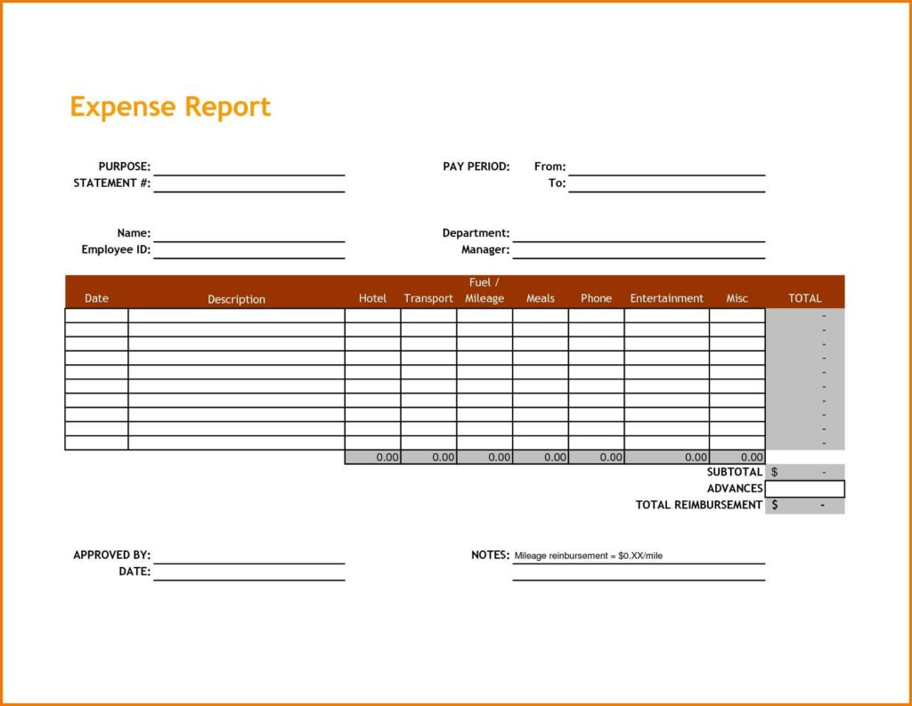 Expenses Sheet Template and Expense Report Spreadsheet Template Teerve Sheet