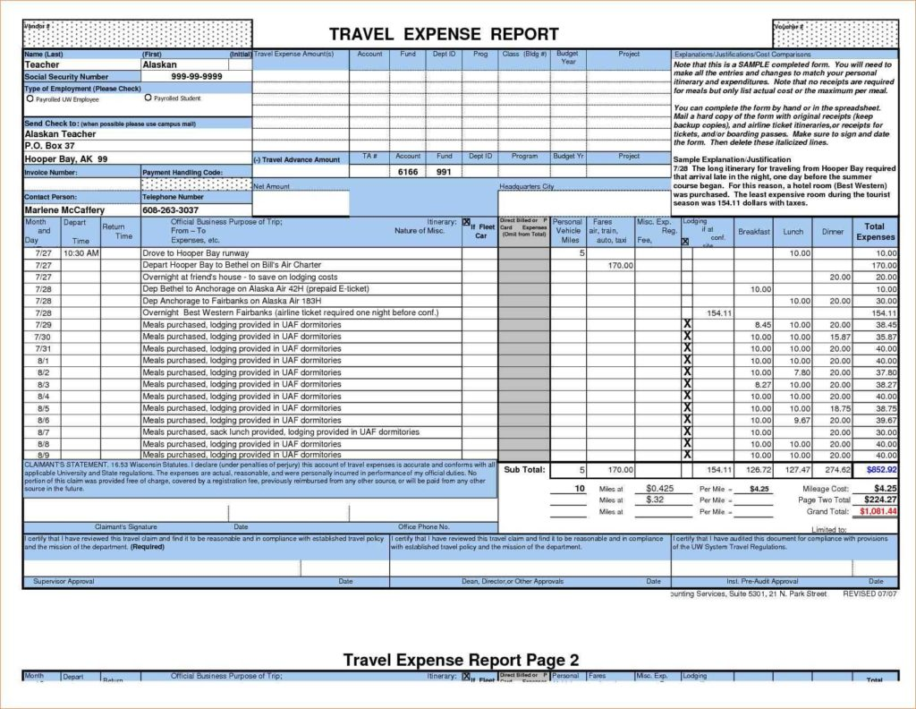 Expenses Tracking Spreadsheet and Expense Report Spreadsheet Template Haisume