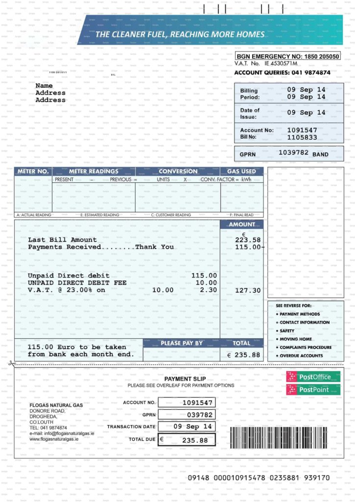 Fake Utility Bills Template and Fake Utility Bill Template Bespoke Wellness