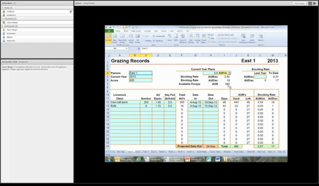 Farm Record Keeping Spreadsheets and Using the Grazing Records Spreadsheet Youtube