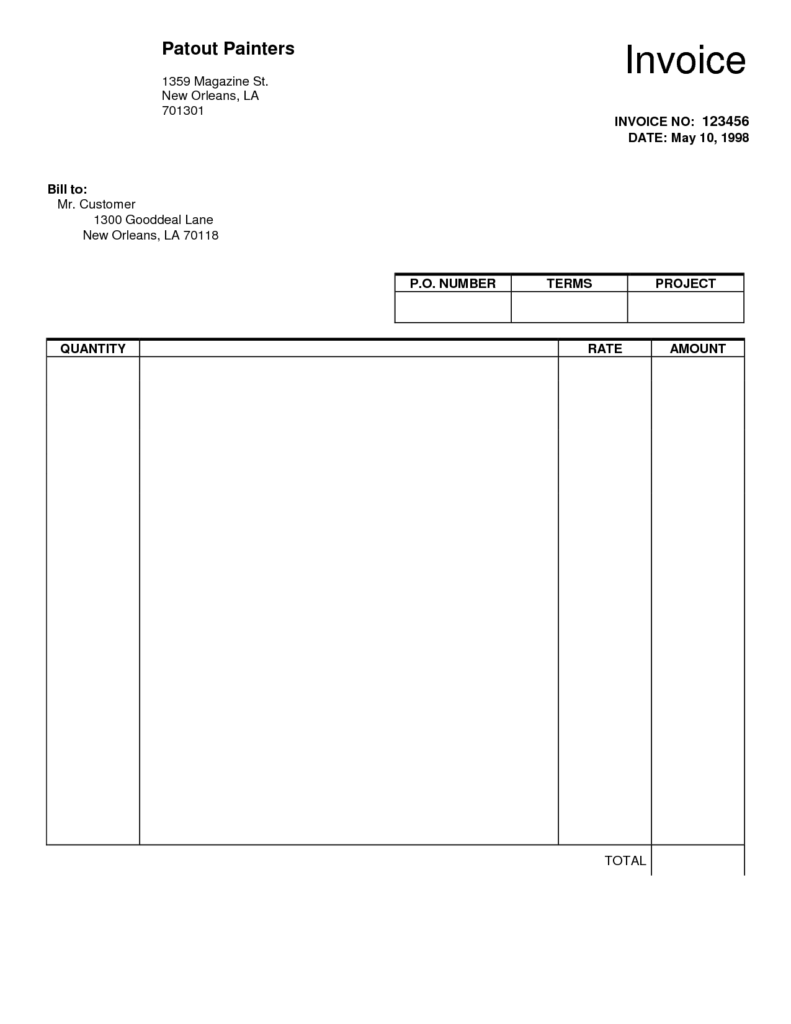 Fillable Invoice Template Pdf and Blank Invoice Template 30 Documents In Word Excel Pdf