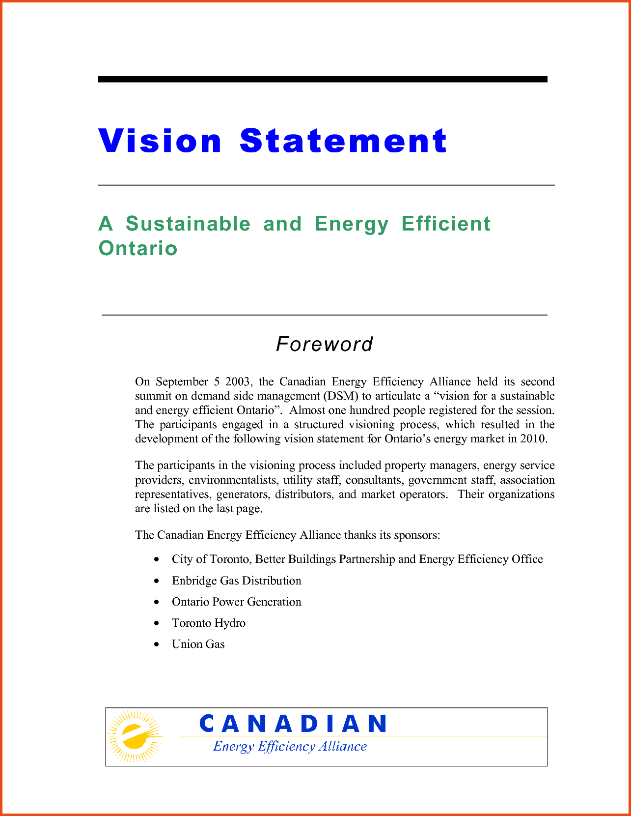 Financial Advisor Vision Statement Examples and Personal Vision Statements Example Of A Vision Statement Template