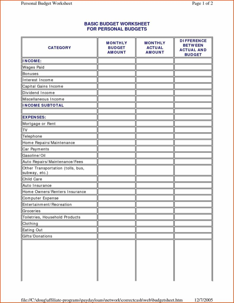 Financial Planning Spreadsheet Free and Financial Planning Template Free Virtren