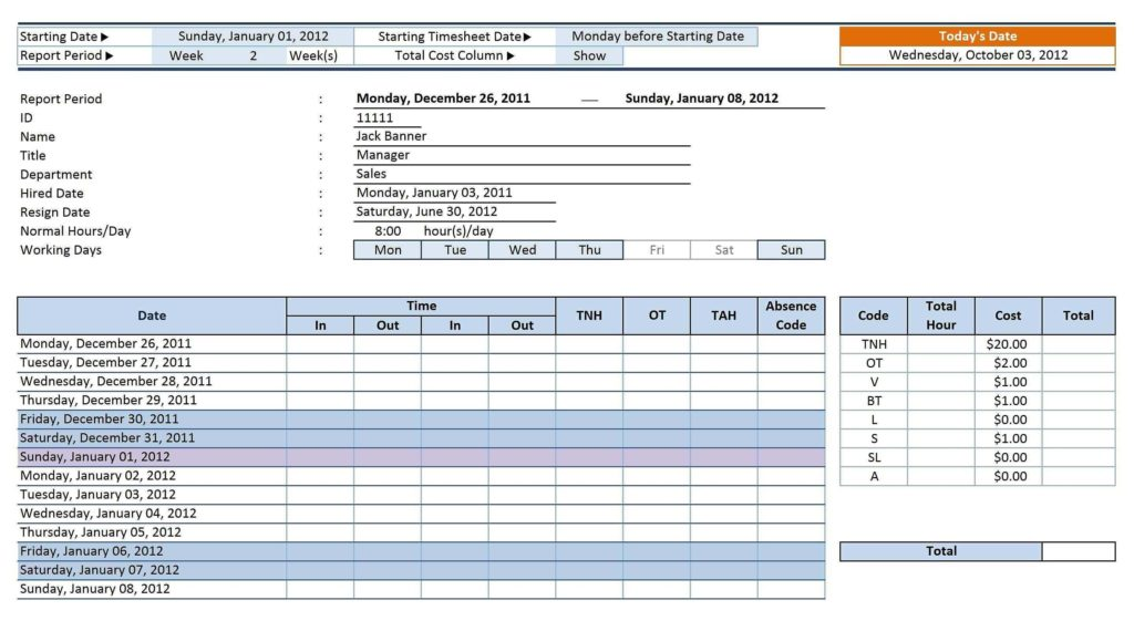 Fmla Tracking Spreadsheet and attendance Spreadsheet Template Excel Customizable form