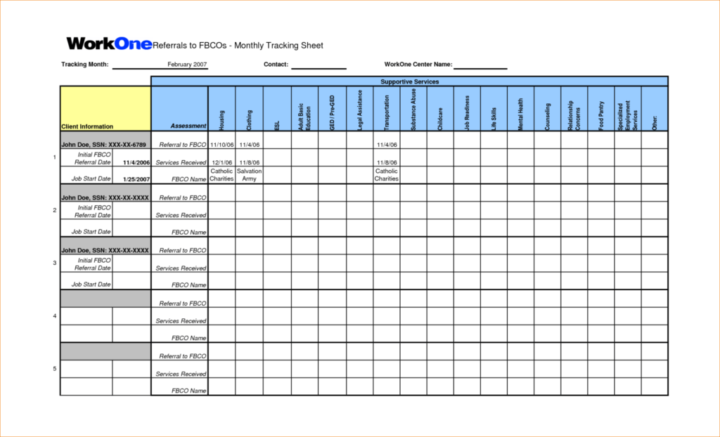 Fmla Tracking Spreadsheet and Proposal Tracking Spreadsheet Nbd